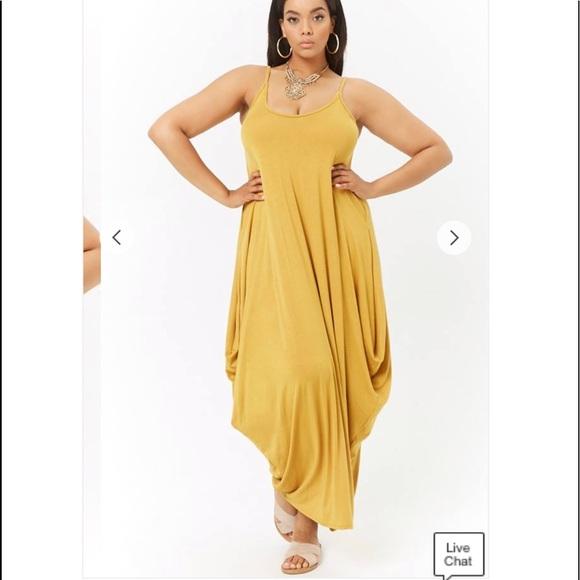 NWT Plus Size Draped Maxi Dress -2X NWT